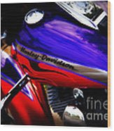 Harley Addiction Wood Print
