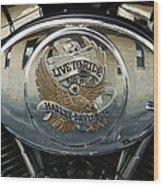 Harley Davidson Bike - Chrome Parts 44c Wood Print