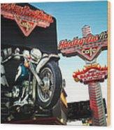 Harley Davidson Cafe Las Vegas Wood Print