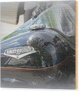 Harley Davidson Emblem Wood Print