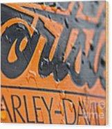 Harley Davidson Logo Wood Print