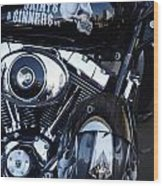 Harley Engine Wood Print