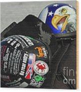 Harley Helmets Wood Print