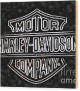 Harley Sign Wood Print