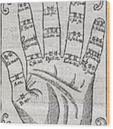 Harmonious Hand, 17th Century Artwork Wood Print by Middle Temple Library