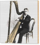 Harp Player Wood Print