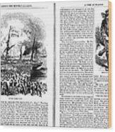 Harpers Magazine, 1861 Wood Print
