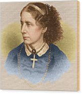 Harriet Beecher Stowe, American Wood Print by Photo Researchers