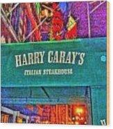 Harry Caray's Wood Print