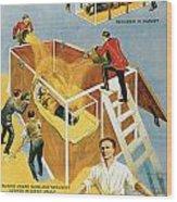 Harry Houdini Buried Alive Wood Print