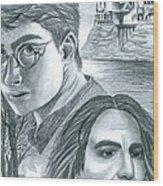 Harry Potter Wood Print by Crystal Rosene