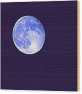 Harvest Moon - Blue Moon Wood Print by Steve Ohlsen