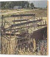 Harvester Sweep Wheel 1 Wood Print