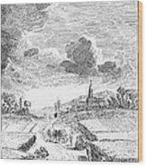 Harvesting, 18th Century Wood Print