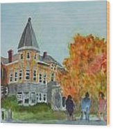 Haskell Free Library In Autumn Wood Print