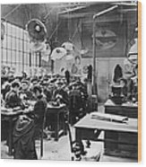 Hat Factory, C1900 Wood Print