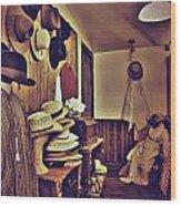 Hat Room Wood Print