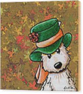 Hat Season Cairn Terrier Wood Print