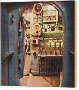 Hatch In Submarine Wood Print