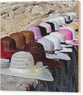 Hats On The Rocks Wood Print