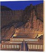 Hatshepsuts Mortuary Temple Rises Wood Print