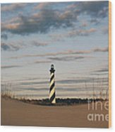 Hatteras Lighthouse And The Smiling Dune Wood Print