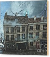 Haunted House Wood Print by Jutta Maria Pusl