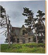 Haunted House Wood Print by Matt Dobson