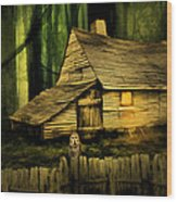 Haunted Shack Wood Print