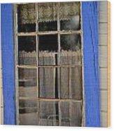 Haunted Window Wood Print