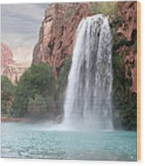 Havasu Waterfall Wood Print by Chris Hill