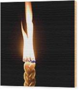 Havdallah Candle Wood Print