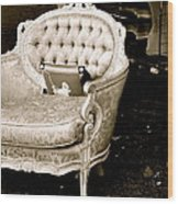 Have A Chair Wood Print
