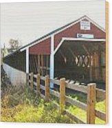 Haverhill-bath Covered Bridge Wood Print