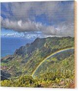 Hawaii Rainbow 2 Wood Print