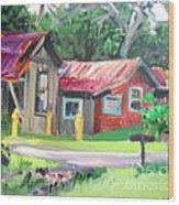 Hawaiian Tin Roofs Wood Print