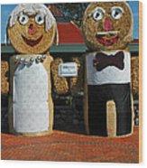 Hay Bale Wedding Wood Print