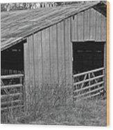 Hay Barn In The Back 40 Wood Print