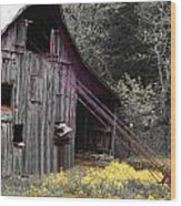 Hay Barn With Random Color Wood Print