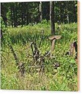 Hay Cutter 4 Wood Print