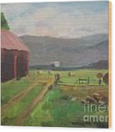 Hay Day Farm Wood Print