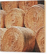Hay There Wood Print