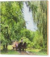 Hayride Wood Print