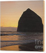 Haystack Reflections Wood Print