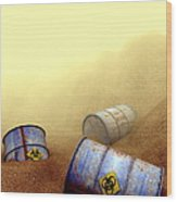 Hazardous Waste Disposal, Artwork Wood Print