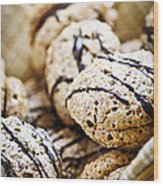 Hazelnut Cookies Wood Print