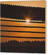 Hazy Summer Sunset Wood Print