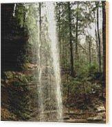 Hcking Hills Waterfall Wood Print