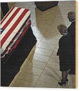 He Casket Of Former President Gerald R Wood Print