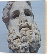 Head Of Zeus At The Acropolis Museum Wood Print